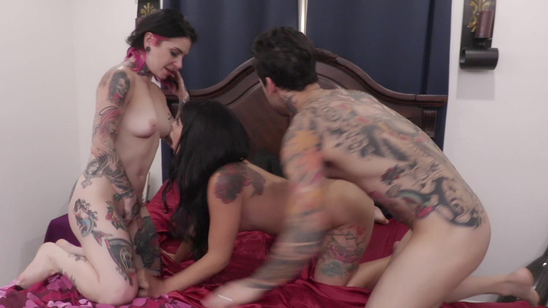 Scene with Joanna Angel, Small Hands and Gina Valentina - image 16 out of 20