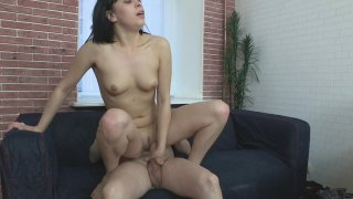 Black Haired Hottie Gets Her Tight Pussy Stuffed with Cock and She Loves Every Inch HD streaming porn movie scene.