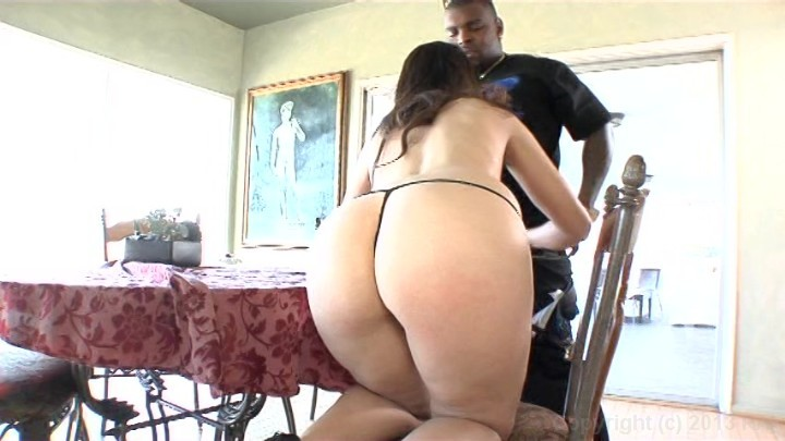 Thick latin ass spread