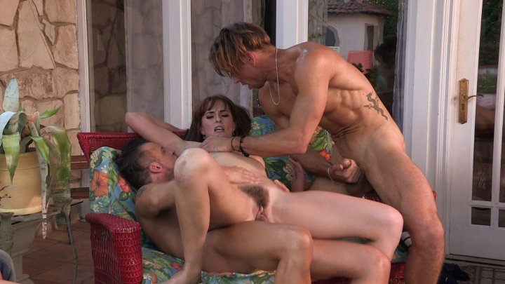 Vacation couple sex threesome