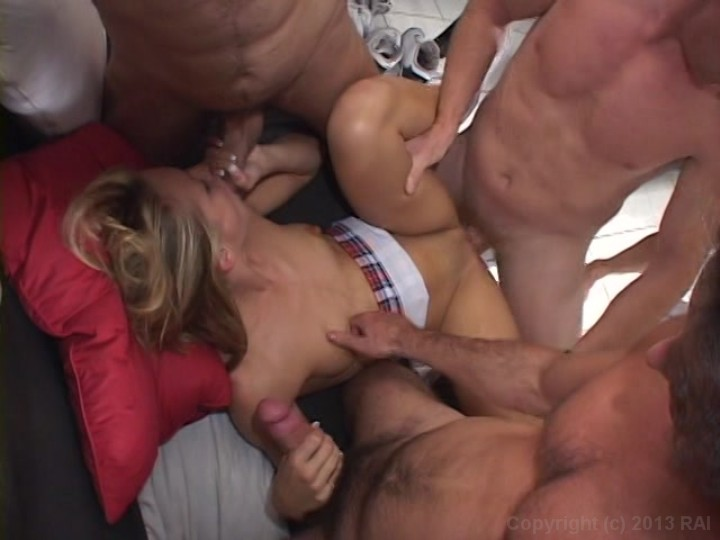Girls getting fucked in multiple holes