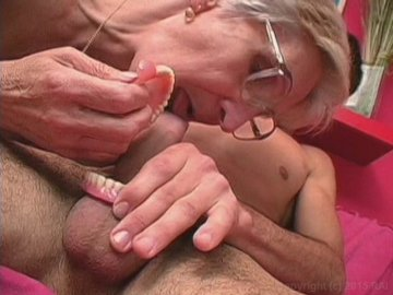 Granny take teeth out gets black fat dick stuck in throat