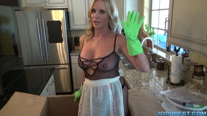 Jodi West - The Dishwasher handjob image.