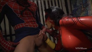 Streaming porn video still #7 from Superman vs Spider-Man XXX: A Porn Parody
