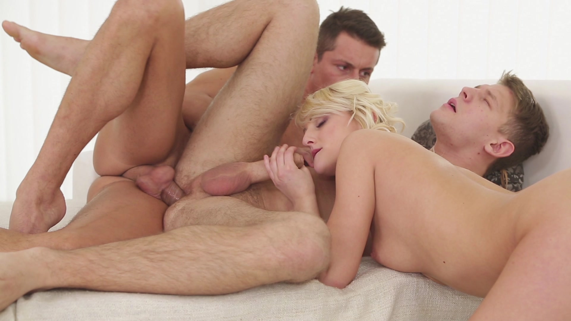 twink gets gang bang creampie