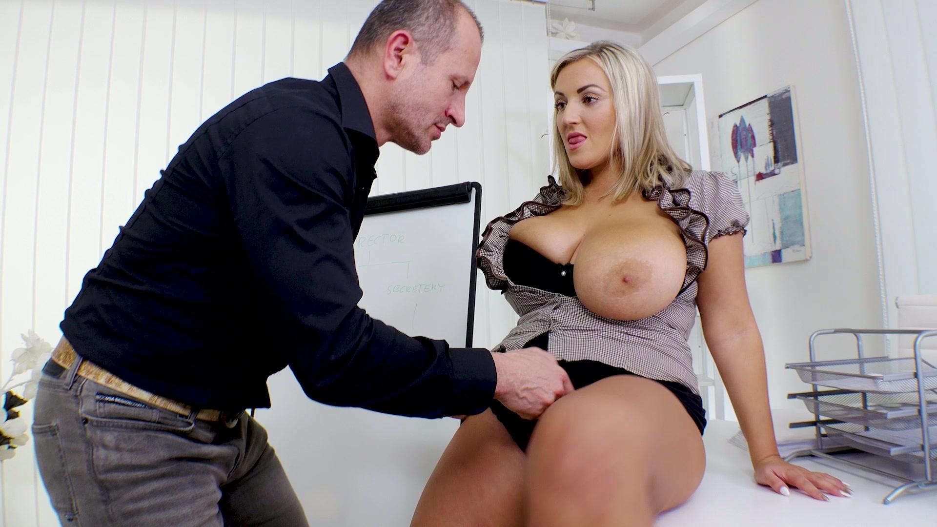 Blonde bbw takes big cock