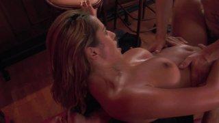 Streaming porn video still #9 from Double Dick Slaparound