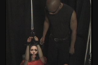 Streaming porn scene video image #8 from Bondage girl milked by a black guy