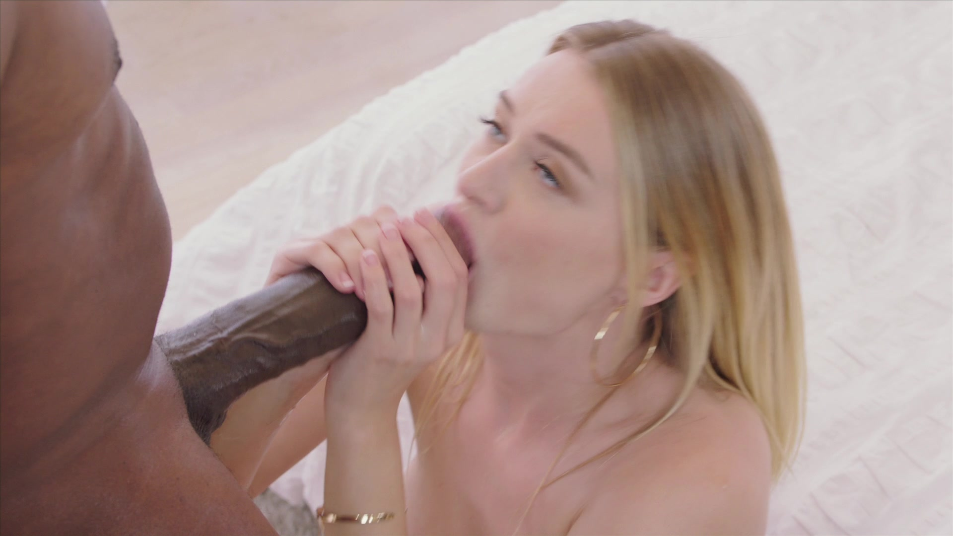 Middle-aged woman doing blowjob