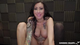 Streaming porn video still #9 from Gangbang Creampie: Ink'd Edition 2