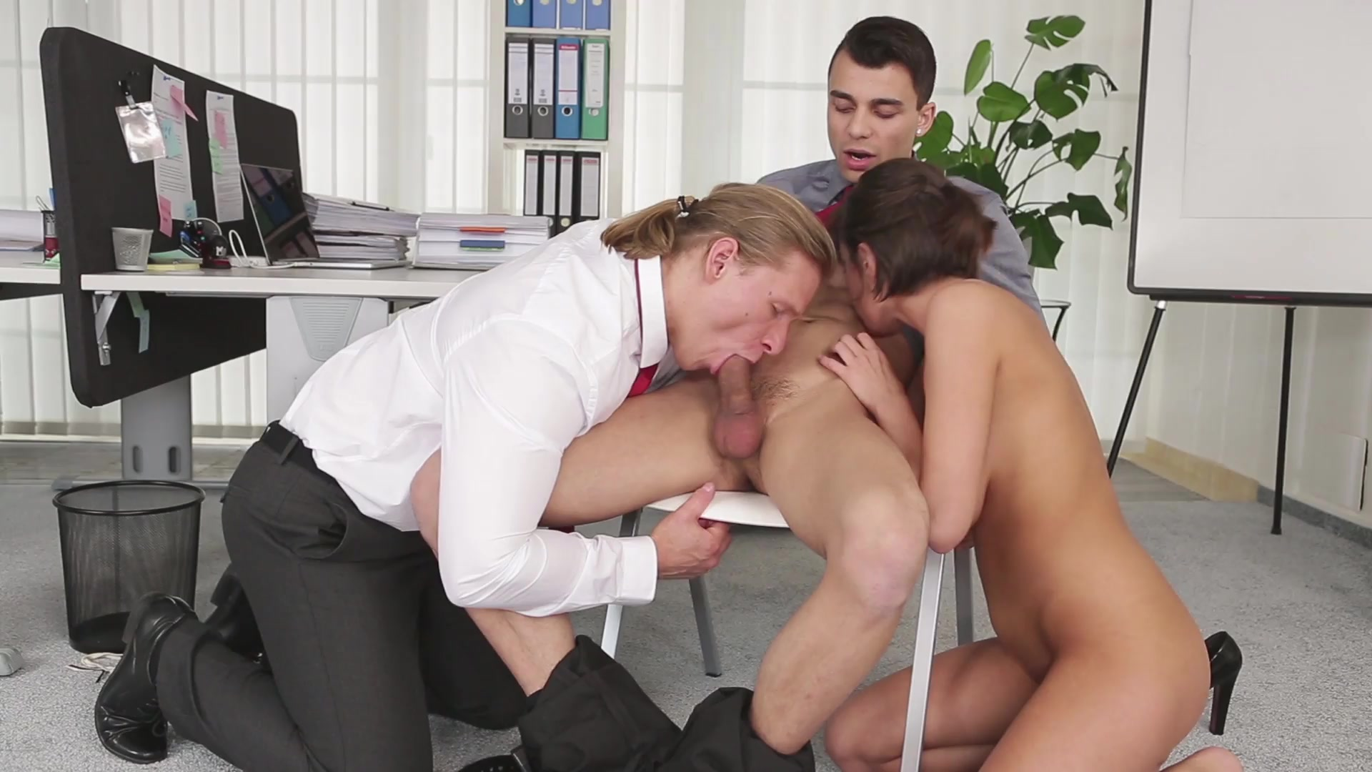 sex Bisexual office
