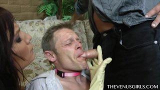 Streaming porn video still #9 from Help My Bitch Turned Me Into A Gay Cum Bucket