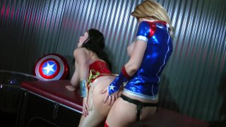 Streaming porn video still #7 from Wonder Woman! With Miss America And Power Girl