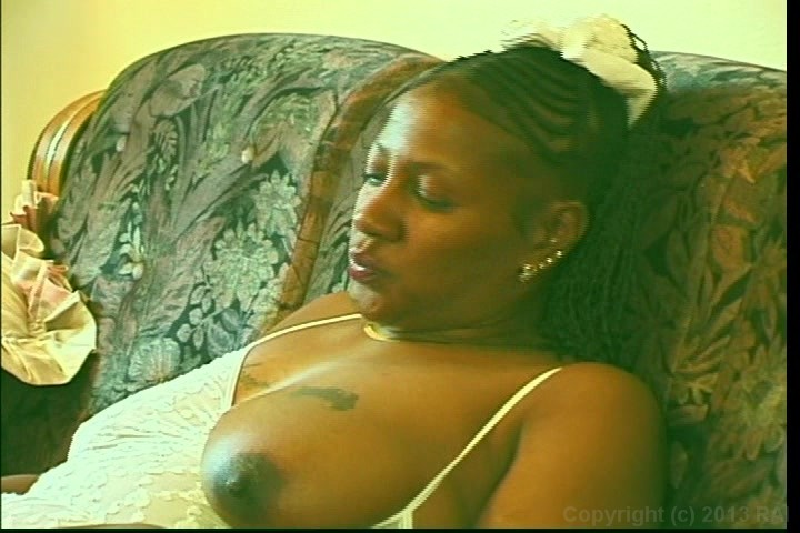 Mature black woman with white cock
