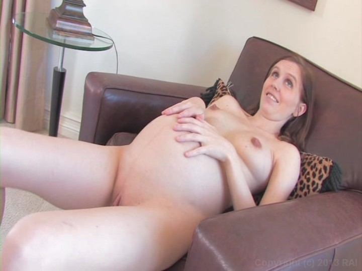 Brunette fucks herself with a stick and corn in the ass