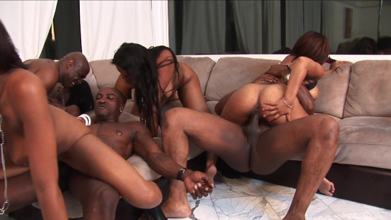 Black orgy clips
