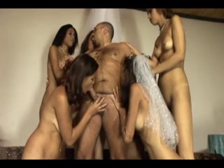 Streaming porn video still #17 from 1 Father, 1 Bride, 5 Strap-On Maids, And 1 Sore-Ass Groom