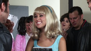 Streaming porn video still #8 from Grease XXX: A Parody