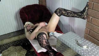 Streaming porn video still #7 from Bob's TGirls And Their Fucking Machines 3
