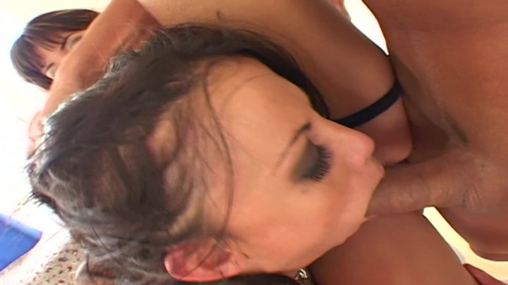 Brunette cock hot riding
