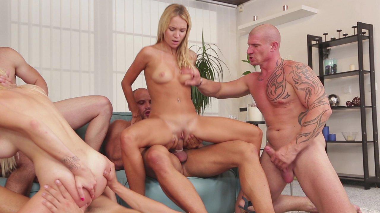 Blond big tits maid