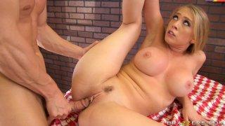 Streaming porn video still #8 from Big Tits In Uniform 6
