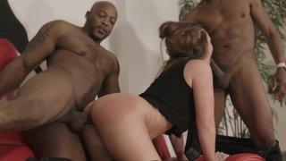 Streaming porn video still #3 from Interracial DP Vol. 2