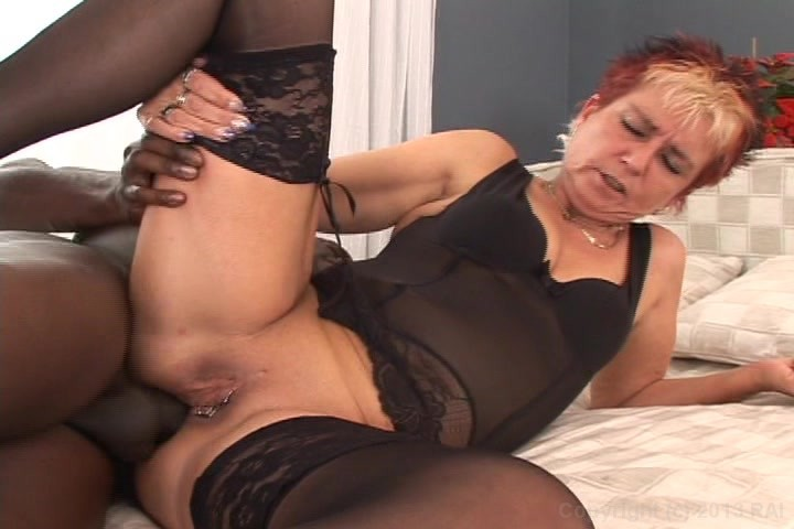 Milf in black lingery