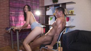 Streaming porn video still #9 from Black Dick Russian Chick 2