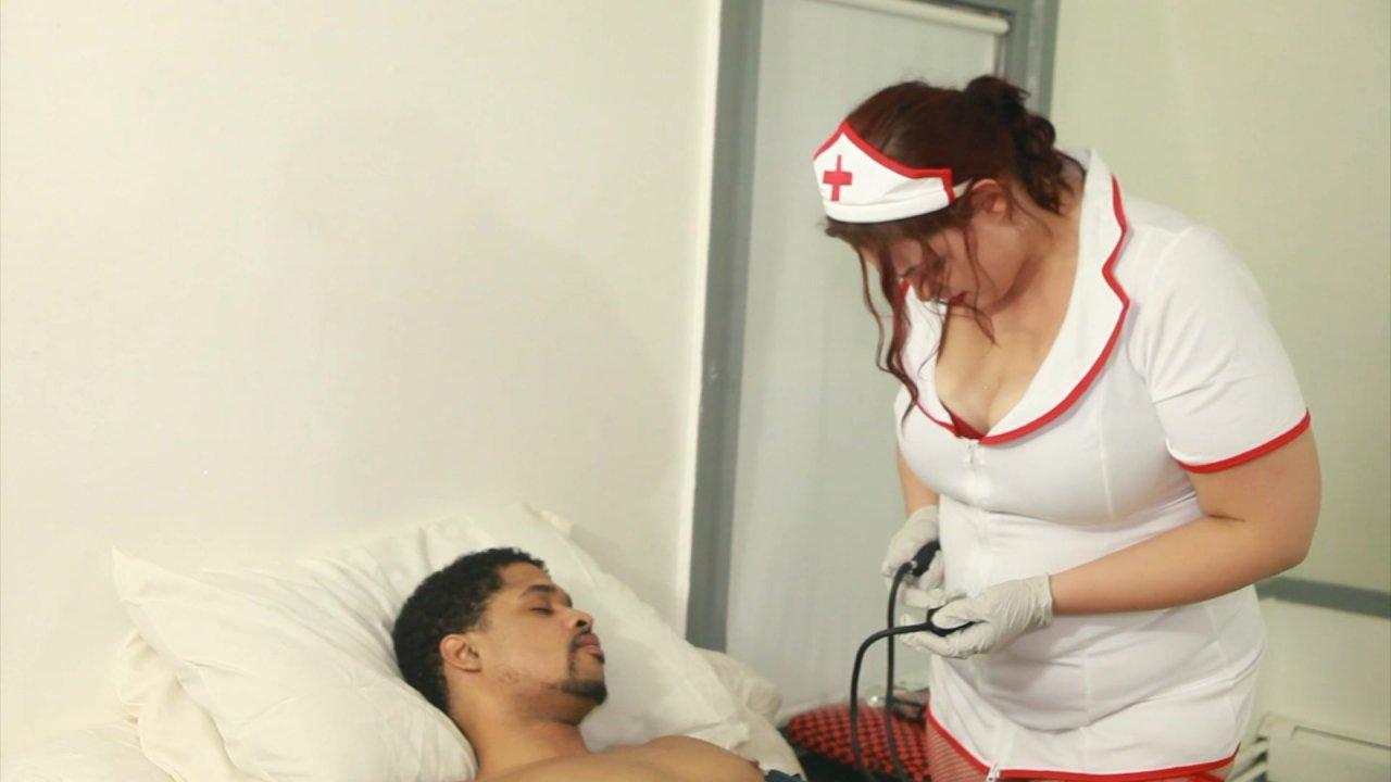 Bbw nurse takes care of cock