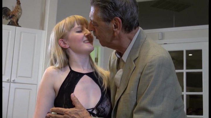 Naughty grandpa pleasured to cum by young babe 9