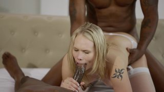Streaming porn video still #6 from Interracial Threesomes Vol. 2
