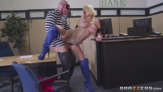 Streaming porn video still #7 from Brazzers Presents: The Parodies 8