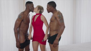 Streaming porn video still #20 from Interracial Threesomes Vol. 5