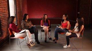 Streaming porn video still #3 from Secret Lesbian Diaries 3: Writing School