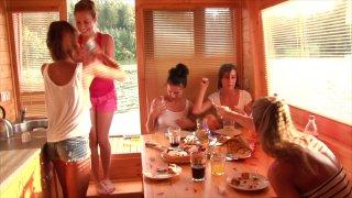 Streaming porn video still #2 from House Boat Full Of Teens