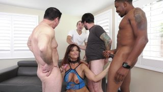 Streaming porn video still #3 from LeWood Gangbang: Battle Of The MILFs 3