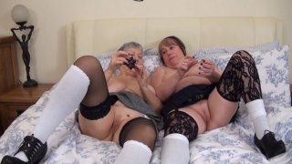 Streaming porn video still #9 from Mature British Lesbians #2
