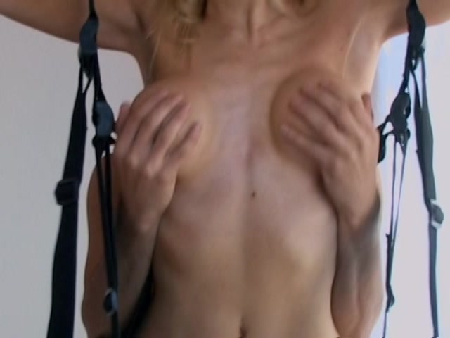 Hot sexy redhead dancing naked