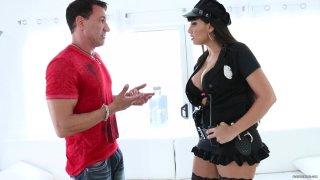 Busty Cop Mercedes Carrera Gets Her Pussy Fucked