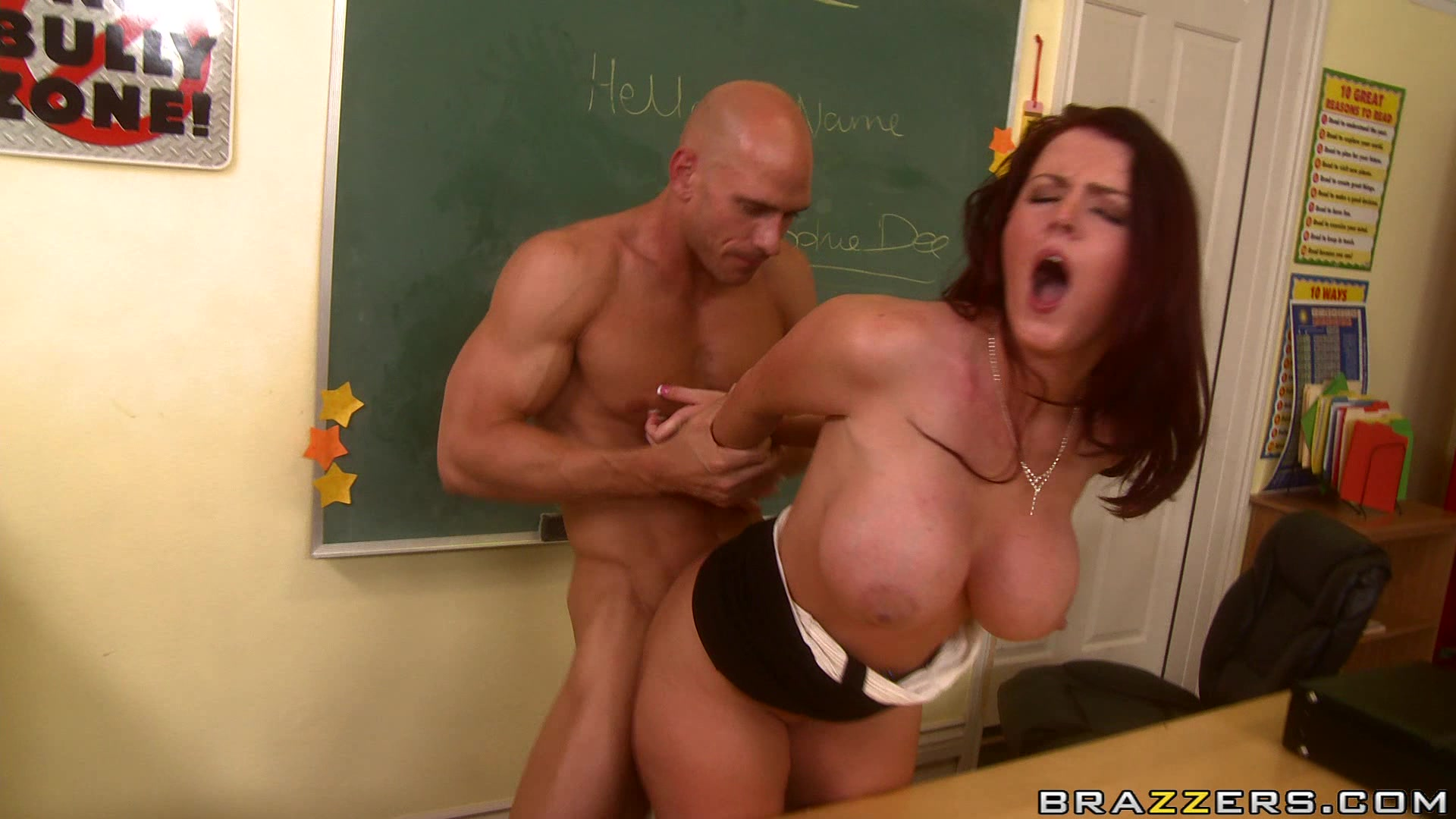Big tits at school doggy with the dean scene starring len 6