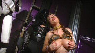 Streaming porn video still #2 from Perils of Slave Leia, The