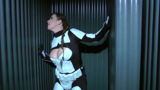Streaming porn video still #7 from Perils of Slave Leia, The