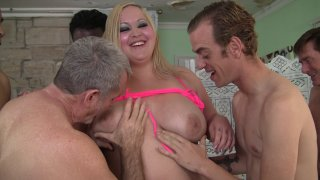 Streaming porn video still #5 from Gang Bang Fever 10