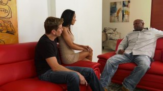 Streaming porn video still #1 from Latina Interracial Cuckold 2