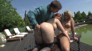 Streaming porn video still #2 from Slutty Girls Love Rocco 9
