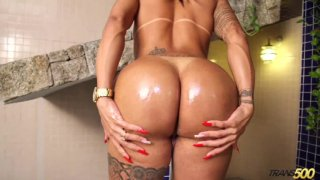 Streaming porn video still #2 from TS Cock Strokers 25