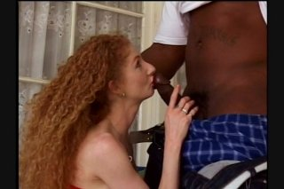 Streaming porn scene video image #1 from Hairy Busty Redhead Gets Fucked By BBC