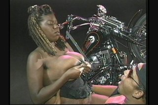 Streaming porn scene video image #5 from Huge tits ebony babe fucking and lactating
