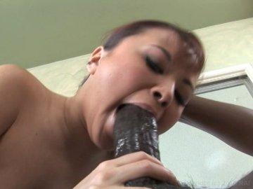 woman getting Black from a man blowjob
